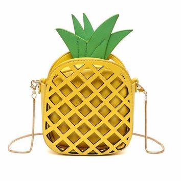 Cute Pineapple Cross Body Bag