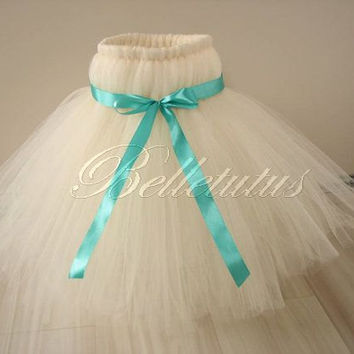 Ecru tutu dress – empire waist tutu – girl tutu dress – baby tutu dress – wedding tutu dress – party tutu dress – birthday tutu dress