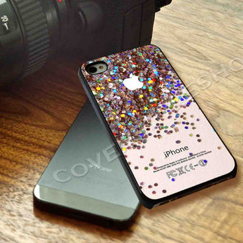 apple logo sparkle glitter Case For iPhone 4/4s, iPhone 5/5S/5C, Samsung S3 i9300, Samsung S4 i9500 *coverstyleshop*