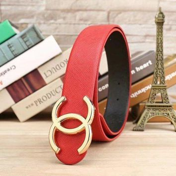 DCCKI2G CHANEL Woman Fashion Smooth Buckle Belt Leather Belt