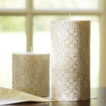 Basilica Pillar Candle | Pottery Barn