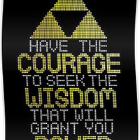 Triforce Wisdom, Power & Courage Zelda