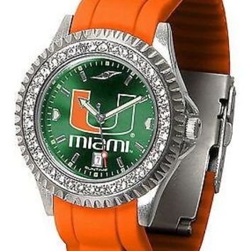 Miami Hurricanes Ladies Sparkle Watch
