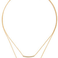 Bar-Fetched Gold Layered Necklace