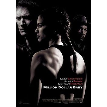 Million Dollar Baby Movie poster Metal Sign Wall Art 8in x 12in