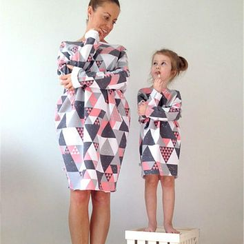Mother Daughter Outfits Family Matching Dresses 15