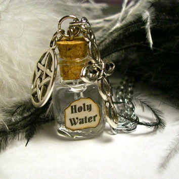 Supernatural holy water protection necklace by JinxyJewels on Etsy