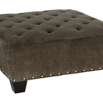 Cindy Crawford Home Sidney Road Gray Cocktail Ottoman