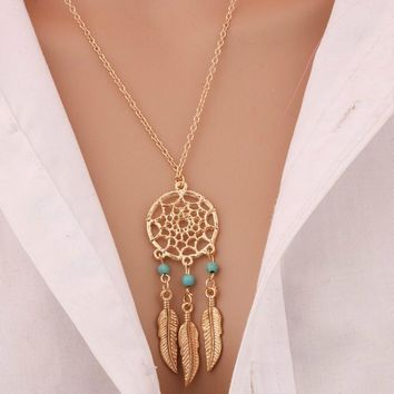 Dream Catcher Necklace (in Gold & Silver)