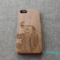 Custom elephant wood iPhone 6 case,Wood iPhone 5s case,Wood iPhone 6 plus case,Wood iPhone 5 case,Wood iPhone 5c case,Wood iPhone 4s case