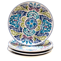 Certified International Hand-painted Mood Indigo Ceramic Dinner Plates (Set of 4) | Overstock.com Shopping - The Best Deals on Plates