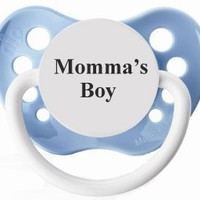 Personalized Pacifiers Mommas Boy Pacifier in Blue