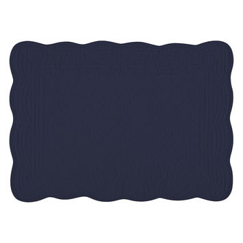 KAF Home Boutis Cotton Placemats (Set of 4) - Dark Blue/Navy