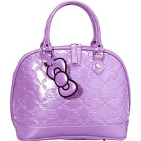 Hello Kitty Rhapsody Purple Embossed Patent Handbag