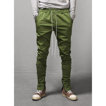 "Mens Ankle Zipped Drawstring Trouser 2 - inseam 34"" at Fabrixquare"