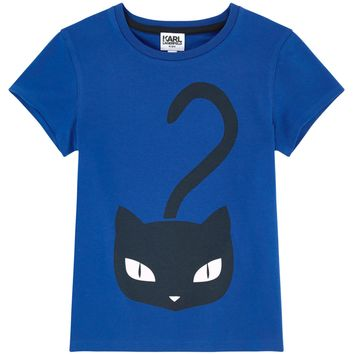 Karl Lagerfeld Girls Choupette Blue T-shirt