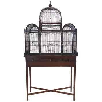 Fine and Rare English George III Birdcage on Stand, circa 1780