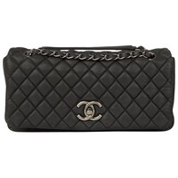 2013 Chanel Dark Grey Bubble Quilted Velvet Calfskin Small Bubble Flap Bag