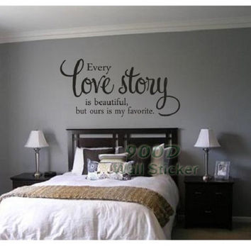 Love Story Quote Wall Sticker, DIY Home Decoration Wall Art Decor Wall Decal, DQ2014502