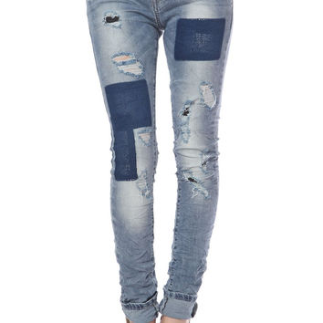 Q2 Skinny Jeans With Patches