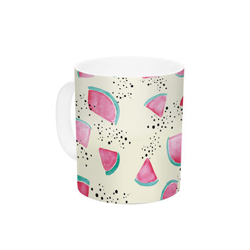 "Danii Pollehn ""Watermelon"" Food Ceramic Coffee Mug"