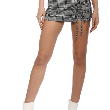 Gab & Kate Check Lace Up Skort