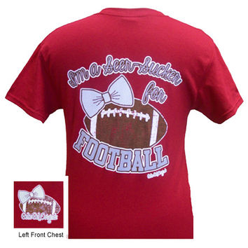 Girlie Girl Originals I'm a Seer-Sucker for Football Cardinal Red Bright T Shirt