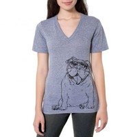 Tank - English Bulldog - Unisex V Shirt
