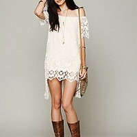 Free People  Crochet Vest at Free People Clothing Boutique