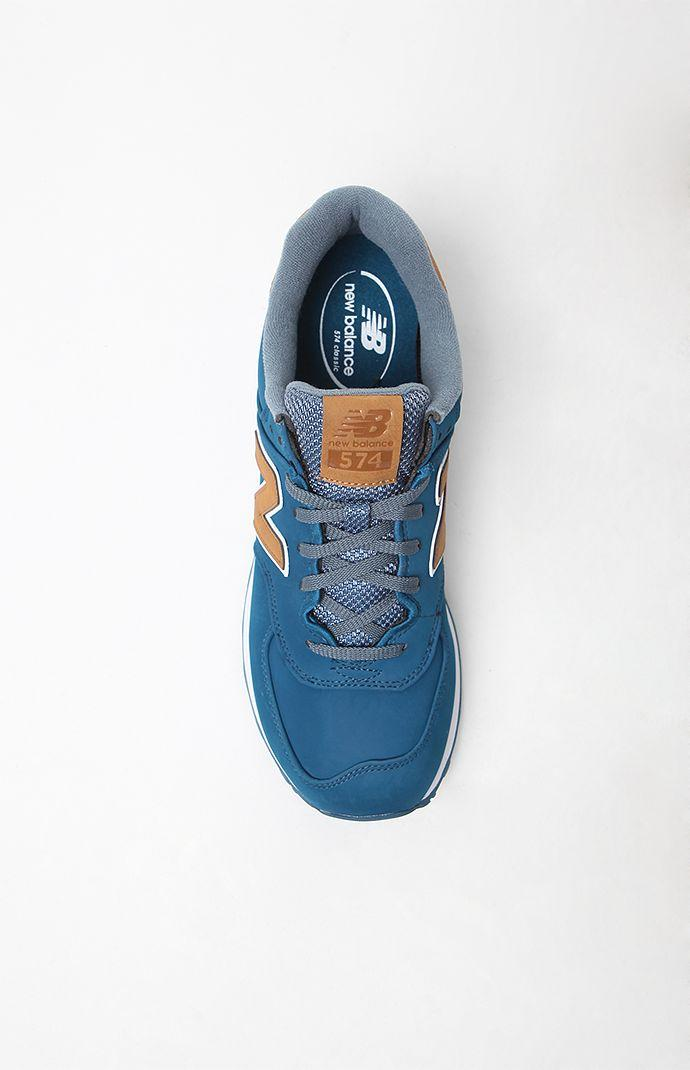 innovative design bf8b7 2a485 New Balance 574 Lux Shoes - Mens Shoes - Blue Tan