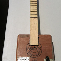 new (25 % off) Acoustic Electric Cigar Box Guitars on sale and/or strings