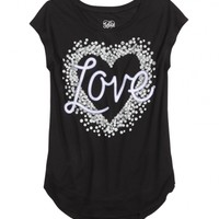 PHOTOREAL LONG TEE WITH SHIRT TAIL | GIRLS TOPS CLOTHES | SHOP JUSTICE