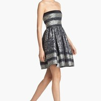 RED Valentino Strapless Full Skirt Jacquard Dress | Nordstrom