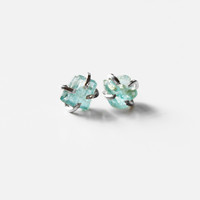 Rough Apatite Prong Earrings