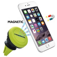 VANDESAIL Car Mount Cradle Holder Magnetic Strong Air Vent For GPS Mobile Phone Smartphones iPhone 5/5S/6/6 Plus Samsung HTC Sony Xperia Series Compact (Green)