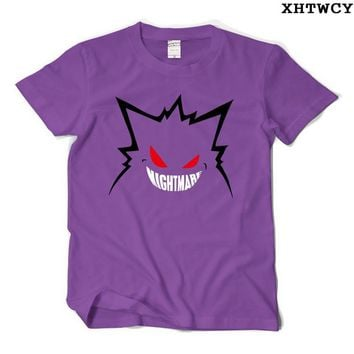 New Creative T Shirts  Gengar Tshirt O Neck Top Tees Casual Gengar Short-Sleeved T-shirtKawaii Pokemon go  AT_89_9
