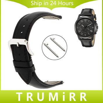 Top Layer Genuine Leather Watch Band for Fossil Q Tailor Gazer Founder Wander Crewmaster Grant Marshal Quick Release Wrist Strap