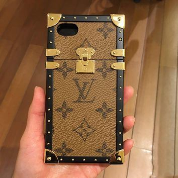 """""""Louis Vuitton"""" LV Hot ! iPhone X iPhone 8 iPhone 8 Plus - Fashion Personality On Sale Hot Deal Matte Couple Phone Case For iphone 6 6s 6plus 6s plus iPhone 7 iPhone 7 plus I"""