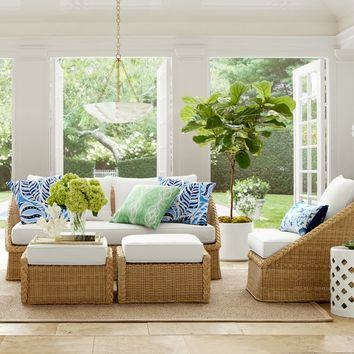 AERIN East Hampton Outdoor Sofa