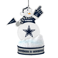 Dallas Cowboys Ornament - LED Snowman