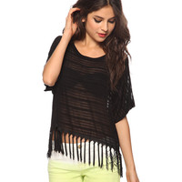 Sheer Fringe Top