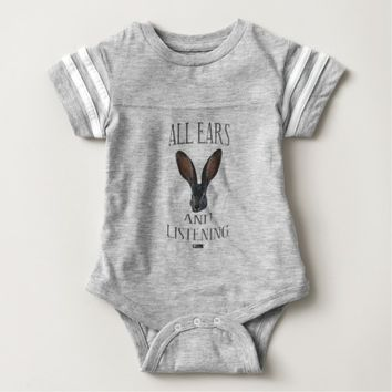 All Ears Baby Design by Kat Worth Baby Bodysuit