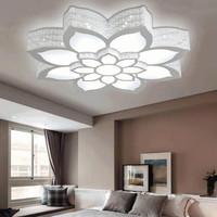 New Fashion Lotus Led Chandeliers Led Lamps High-Power Led Acrylic Living Room Chandelier Led Lustre Lighting Chandeliers