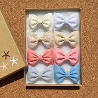 Pastel Seaside Sparrow hair bow set of eight. Hair bows for teens Hair bow hair bows for girls hair clip girl gift for her hair accessory