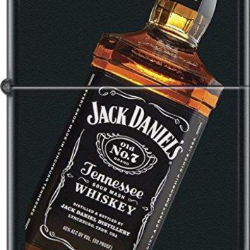 Collectable Hard to Find Jack Daniels - Bottle Black Matte Zippo