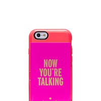 Kate Spade Now You're Talking Iphone 6 Stowaway Case Geranium/Vivid