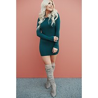 Text Me Later Bodycon (Hunter Green)