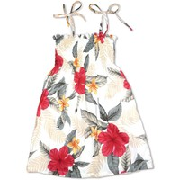 Makaha Cream Sunkiss Hawaiian Girl Dress