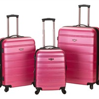 Pink Melbourne 3 Piece Luggage Set