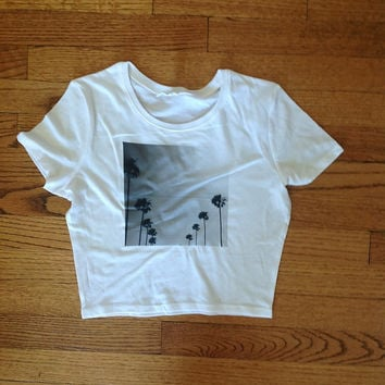 Palm trees picture california Unisex clothing brandy melville inspired graphic tee women's clothing brandy melville